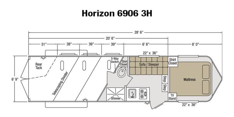 Sundowner Horizon 6906 Living Quarters 2010 Sold